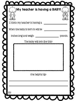 My Teacher is Pregnant - Class Book & Math Sheet