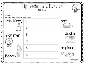 My Teacher is a Monster (Book Companion)