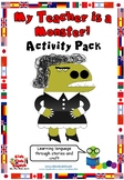 My Teacher is a Monster Activity Pack - School, Body, Colors and Numbers