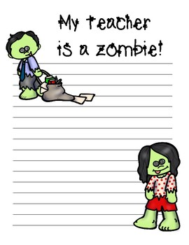 My Teacher is a ZOMBIE~ Creative October Writing