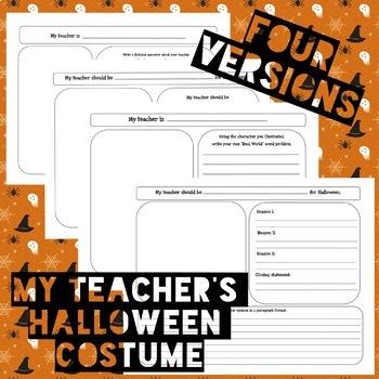 My Teacher's Halloween Costume