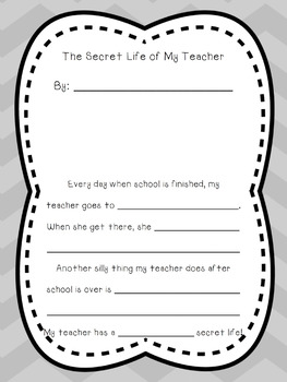 My Teacher's Secret Life Creative Writing