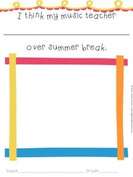 My Teacher's Summer Break Book