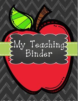 My Teaching Binder