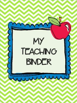 My Teaching Binder {Chevron Brights}: Organize Your Life i