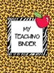 My Teaching Binder {Safari/Animal Prints}: Organize Your L