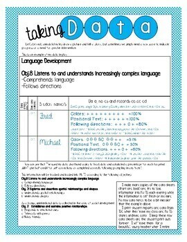 My Teaching Strategies Data Sheets