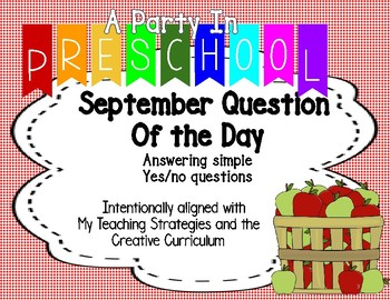 My Teaching Strategies September Question of the Day