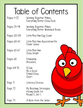 My Teaching Strategies  The Little Red Hen   Round 3, Set 1