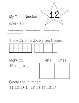 My Teen Number Activity Book