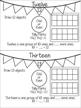 Teen Numbers Book