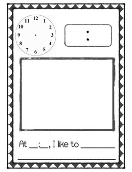 My Telling Time Book Template