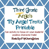 """My Ten Angel Traits - An """"About Me"""" Printable ~ Third Grade Angels Activity"""