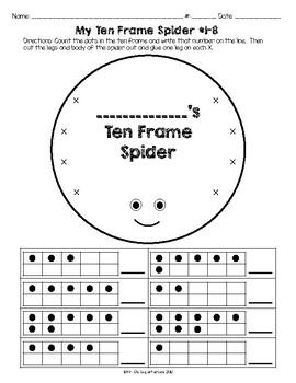 My Ten Frame Spider #1-8