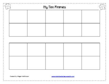 My Ten Frame activity mats