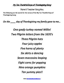 My Ten Thankful Days of Thanksgiving