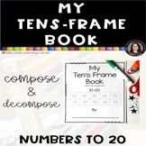 My Ten's Frame Book 10-20 Math Center