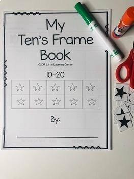 My Ten's Frame Book 10-20 Math Center