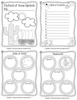 My Book of Texas Symbols: Grades 1-3