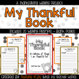 My Thankful Book - A Thanksgiving Writing Project for November