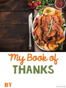 My Thankful Book BUNDLE - Thanksgiving Literacy & Social Studies Fun!