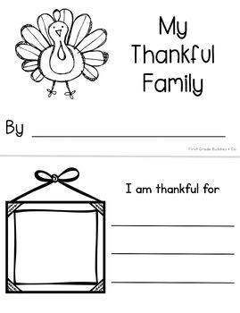 Thanksgiving Activities | Thanksgiving Mini Book | Thanksgiving Writing