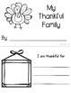 My Thankful Family Mini Book