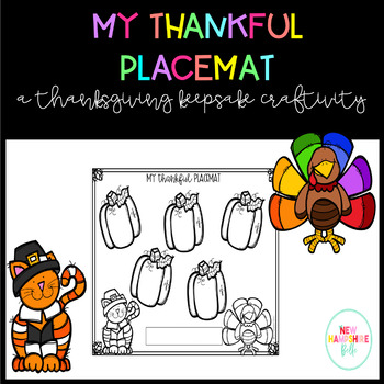 My Thankful Placemat Craftivity
