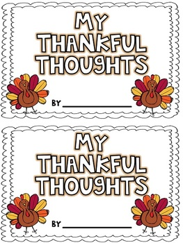 My Thankful Thoughts {Freebie}