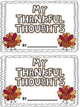 My Thankful Thoughts {Freebie}