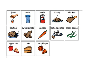 My Thanksgiving Feast- Speech Language Therapy (Autism)