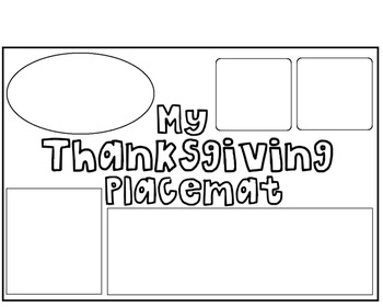 My Thanksgiving Placemat {Including Shapes}