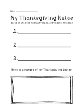 My Thanksgiving Rules