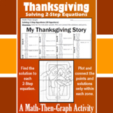 My Thanksgiving Story - A Math-Then-Graph Activity - Solve 2-Step Equations