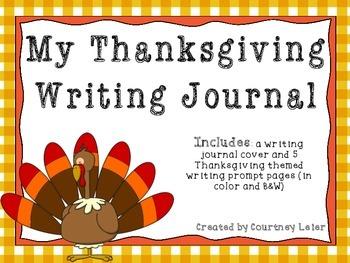 My Thanksgiving Writing Journal