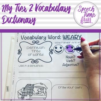 My Tier 2 Vocabulary Dictionary