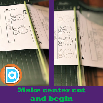 ♥ BUNDLE ♥ My 1st Grade Time Book | Digital & Analog Hours AND Half Hours