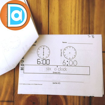 Telling Time Activities | My Time Book | Hours | First Grade Math Activity