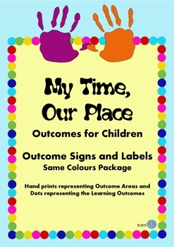My Time, Our Place Framework Outcomes Signs for OSHC VacCare or Childcare -Same