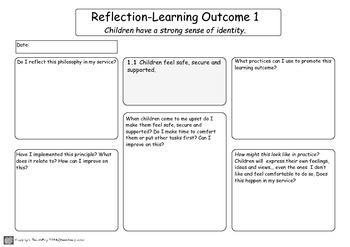 Planning My Time >> My Time Our Place Reflection Planning Templates By Teachezy Tpt