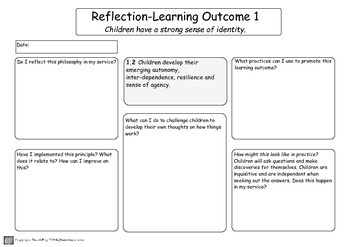 my time our place reflection planning templates by teachezy tpt