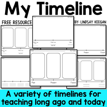 My Timeline - A primary activity for long ago and today