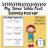 My Times Table Fact Activity