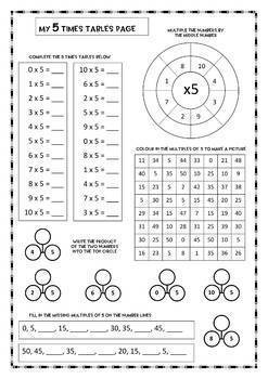 My Times Tables Workbook, teacher notes, answers, 25 pgs