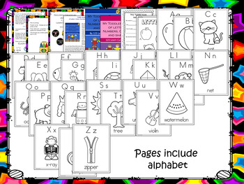 My Toddler Book of Letters, Colors, Numbers and Shapes