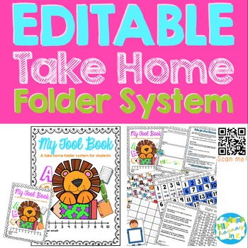 EDITABLE Take Home Resource Folders