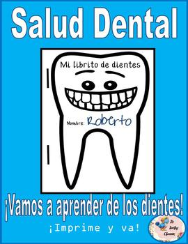 My Tooth Book (A Dental Health Mini-book) *Spanish & English Bundle*