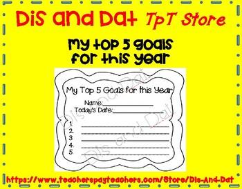 My Top 5 Goals