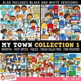 My Town Community Helpers Clip Art Bundle 1