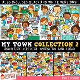 My Town Community Helpers Clip Art Bundle 2